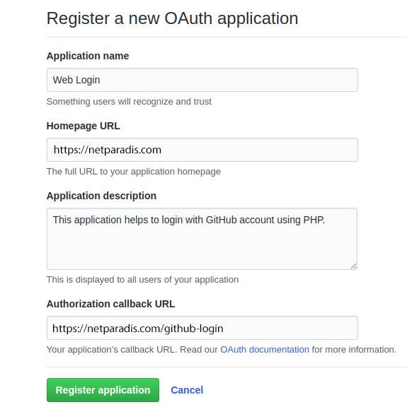 لاگین شدن با Github در PHP