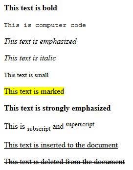 آموزش HTML - تگ های فرمت دهی متن