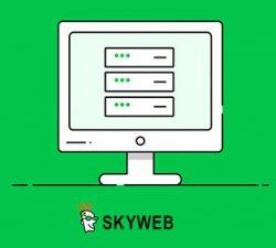 قالب HTML اسکای وب