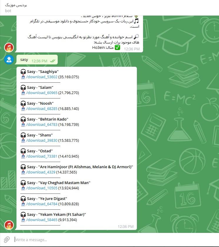 Music channel telegram radio javan