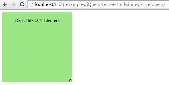 تغییر سایز المنت HTML با jQuery