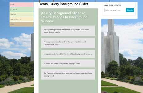 ساخت اسلایدر پس زمینه با jQuery