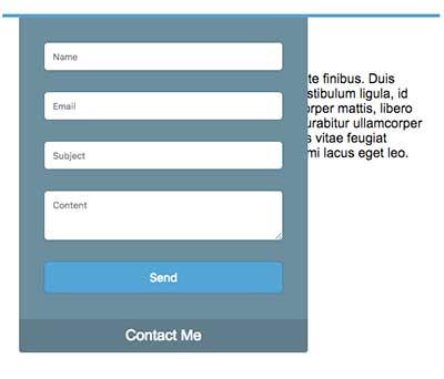 ساخت فرم تماس با ما اسلایدی با jQuery