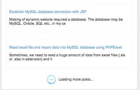 ساخت صفحه بندی infinite scroll با PHP و jQuery