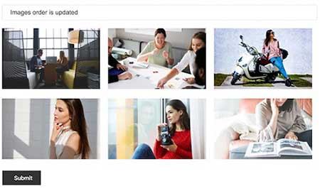 تغییر ترتیب تصاویر گالری بوسیله drag&drop با PHP و AJAX
