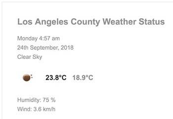 نمایش وضعیت آب و هوا با PHP